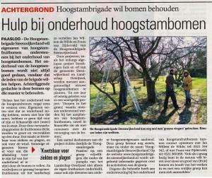 2014 02 26 HSB persbericht Steenwijker Courant